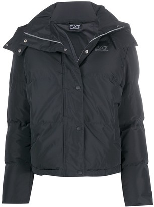 EA7 Emporio Armani Long-Sleeved Puffer Jacket