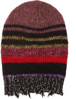 Etro Striped wool-blend beanie hat
