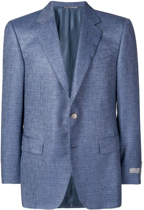 Canali micro-check suit jacket