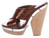 Marni Patent Leather Slide Sandals