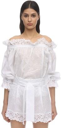 Ermanno Scervino Cotton Eyelet Lace Shirt