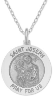 "Giani Bernini St. Joseph Medallion 18"" Pendant Necklace in Sterling Silver"