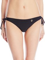 Hawaiian Tropic Women's Lace Up Solid Bikini Bottom