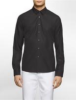 Calvin Klein Platinum Skinny Fit Solid Cotton Poplin Shirt