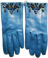 Prada Turquoise Leather Gloves