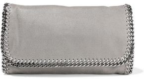 Stella McCartney Falabella Faux Brushed-leather Clutch