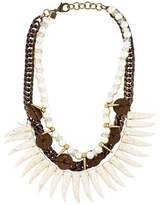 Dannijo Faux Pearl & Howlite Arjuna Collar Necklace