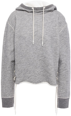 Rag & Bone Amelia Lace-up French Cotton-terry Hoodie