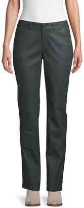 Lafayette 148 New York Waxed Straight-Leg Jeans