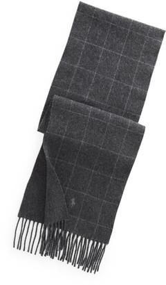 Ralph Lauren Reversible Windowpane Wool-Blend Scarf