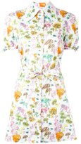 Olympia Le-Tan mushroom print shirt dress - women - Cotton - 36