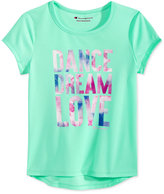 Champion Dance, Dream, Love Graphic-Print T-Shirt, Toddler and Little Girls (2T-6X)