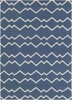 Chandra Lima - Flat-weaved Rectangular Reversible Wool/Cotton Area Rug