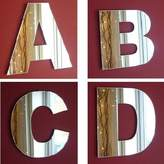 ServeWell Contemporary Letters Wall Mirror - 15 cm