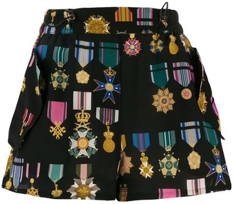 Mr & Mrs Italy Medal Pattern Shorts
