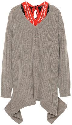 Balenciaga V-neck scarf sweater