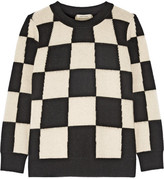 Marc Jacobs Checked Cashmere Sweater - Off-white