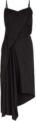 Marques Almeida Marques'Almeida asymmetric draped midi dress