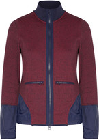 adidas by Stella McCartney Shell-paneled marled stretch-knit jacket