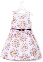 MonnaLisa flower print dress - kids - Cotton/Polyamide - 3 yrs