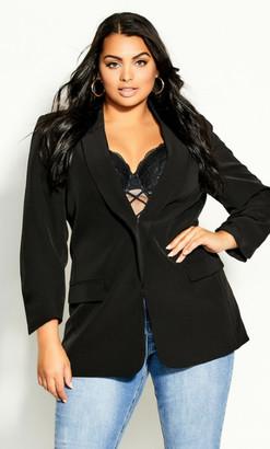 City Chic So Sassy Jacket - black