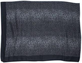 Saint Laurent Grey Wool Scarves & pocket squares