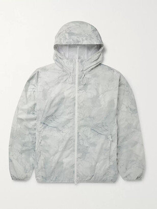 Theory Joakim Printed Nylon Hooded Jacket