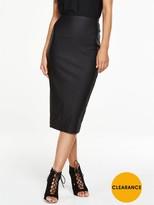 Black High Waisted Pencil Skirt - ShopStyle UK