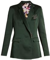 Christopher Kane Safety pin-embellished cady blazer