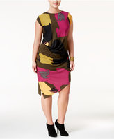 Rachel Roy Curvy Trendy Plus Size Asymmetrical Dress