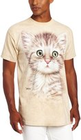 The Mountain Men's Brown Striped Kitten T-Shirt