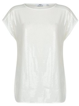 Dorothy Perkins Womens Tall White Sequin T