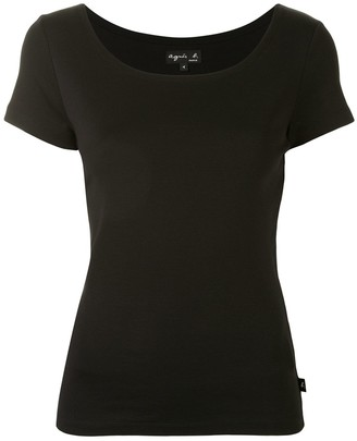 agnès b. Le Chic scoop neck T-shirt