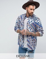 Reclaimed Vintage Inspired Festival Shirt In Reg Fit