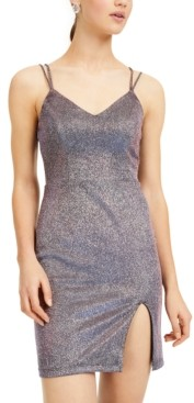City Studios Juniors' Glitter Bodycon Dress