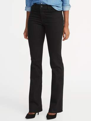 Old Navy Mid-Rise Black Micro-Flare Ankle Jeans for Women