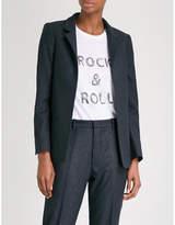 Zadig & Voltaire Volly metallic pinstripe twill blazer