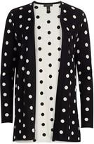 Saks Fifth Avenue Silk Cashmere Polka Dot Jacquard Open Cardigan
