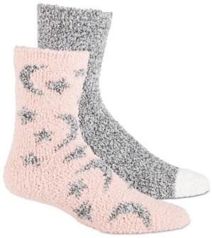 Jenni Women's 2-Pk. Stars Cozy Crew Socks, Created for Macy's