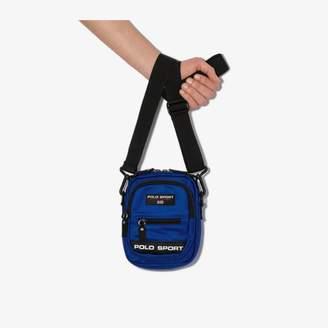 Polo Ralph Lauren blue sport logo messenger bag