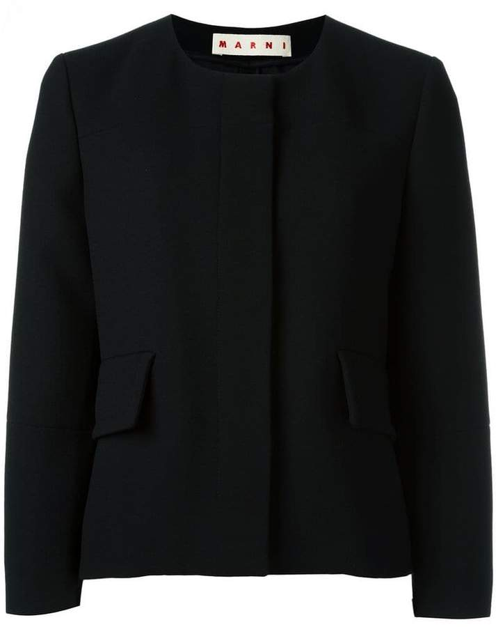 Marni collarless jacket