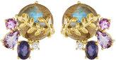 Indulgems Willow Gemstone Cluster Stud Earrings