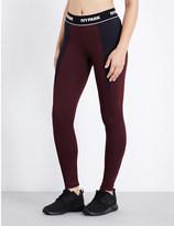 Ivy Park Rib-panelled mid-rise skinny jersey leggings