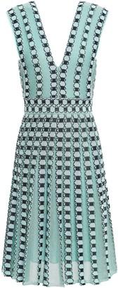 M Missoni Pleated Metallic Jacquard-knit Dress