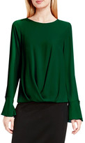 Vince Camuto Pleat Front Flutter Cuff Blouse