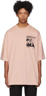 McQ Pink High Voltage Sonic Impact T-Shirt