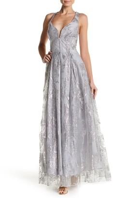 Marina Glitter Ball Gown