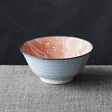 "Crate & Barrel Kiso Orange 6"" Rice Bowl"