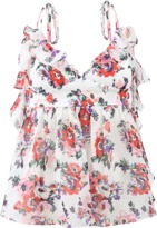 MSGM Floral Babydoll Top