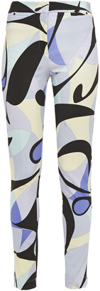 Emilio Pucci Printed Stretch-ponte Skinny Pants